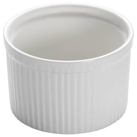 Форма для выпечки WHITE BASICS KITCHEN фарфоровая, круглая, 10 х 6,5 см, фото 2