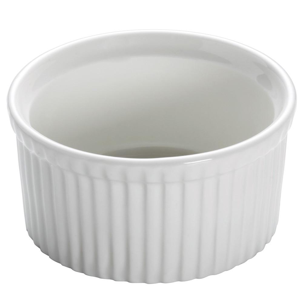 Форма для выпечки WHITE BASICS KITCHEN фарфоровая, круглая, 8,5 х 4,5 см