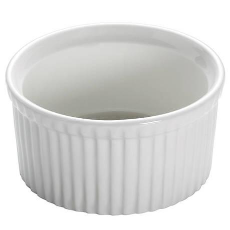 Форма для выпечки WHITE BASICS KITCHEN фарфоровая, круглая, 8,5 х 4,5 см, фото 2