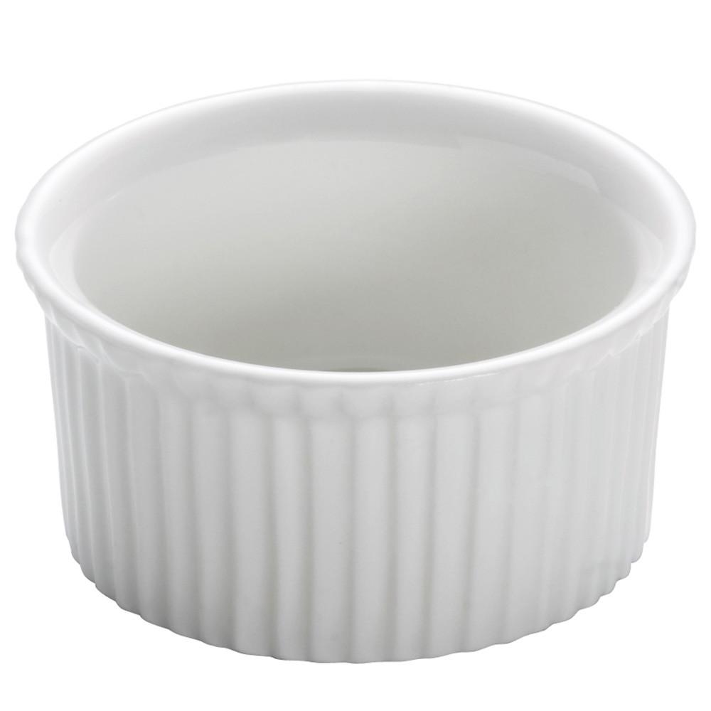 Форма для выпечки WHITE BASICS KITCHEN фарфоровая, круглая, 6 х 3,5 см