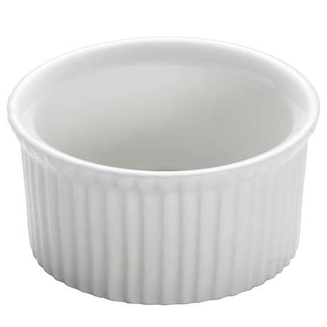 Форма для выпечки WHITE BASICS KITCHEN фарфоровая, круглая, 6 х 3,5 см, фото 2
