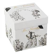 Набор мини-подставок для пирожных Alice in Wonderland, фарфор, 2 шт., 10 х 10 х 5 см, фото 2