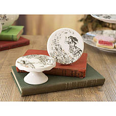 Набор мини-подставок для пирожных Alice in Wonderland, фарфор, 2 шт., 10 х 10 х 5 см, фото 3