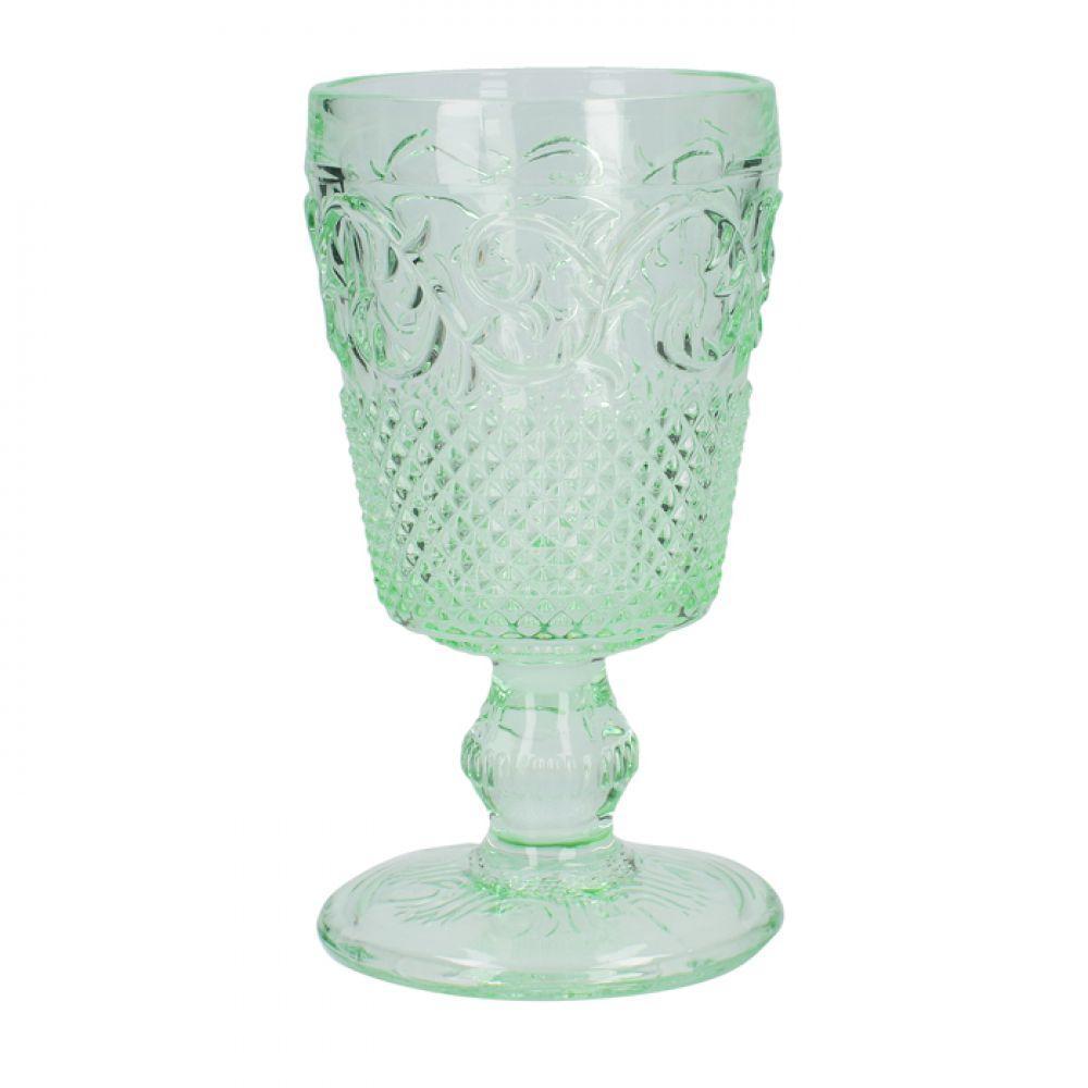 Фужер для вина, тисненное стекло, зеленый, 150 мл