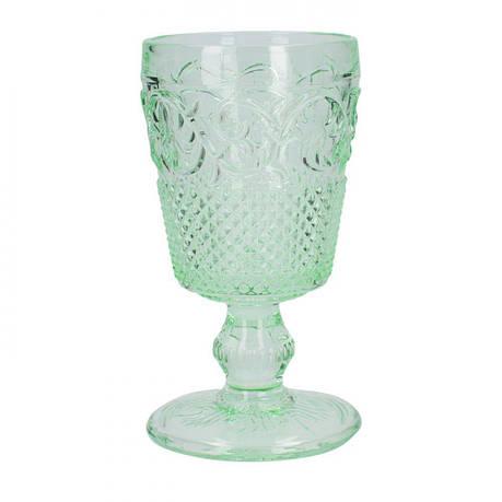 Фужер для вина, тисненное стекло, зеленый, 150 мл, фото 2