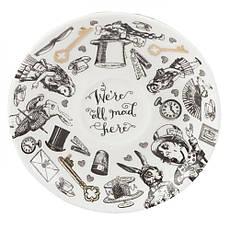Чашка для эспрессо с блюдцем Alice in Wonderland, фарфор, 75 мл, фото 2