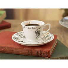 Чашка для эспрессо с блюдцем Alice in Wonderland, фарфор, 75 мл, фото 3