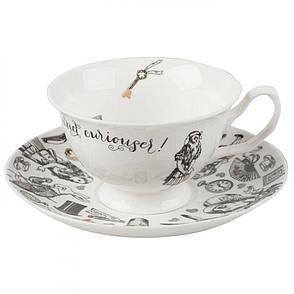 Чашка для чая с блюдцем Alice in Wonderland, фарфор, 250 мл, фото 2