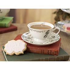 Чашка для чая с блюдцем Alice in Wonderland, фарфор, 250 мл, фото 3