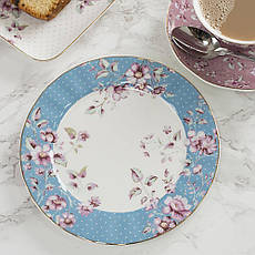 Тарелка десертная Ditsy Floral голубая, фарфор, диам. 19 см, фото 2