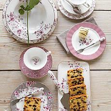 Тарелка десертная Ditsy Floral голубая, фарфор, диам. 19 см, фото 3