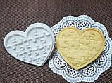 3Д Формочка ко Дню Влюбленных Пазл сердце| Вырубка на день святого Валентина | Вырубка для пряников, фото 2
