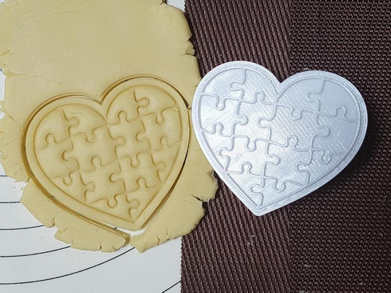 3Д Формочка ко Дню Влюбленных Пазл сердце| Вырубка на день святого Валентина | Вырубка для пряников