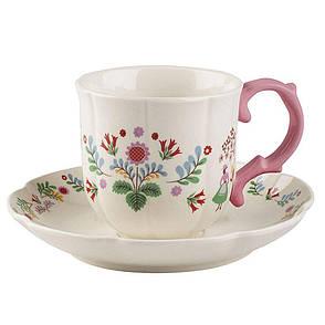Чашка с блюдцем Festival Folk, керамика, 250 мл, фото 2