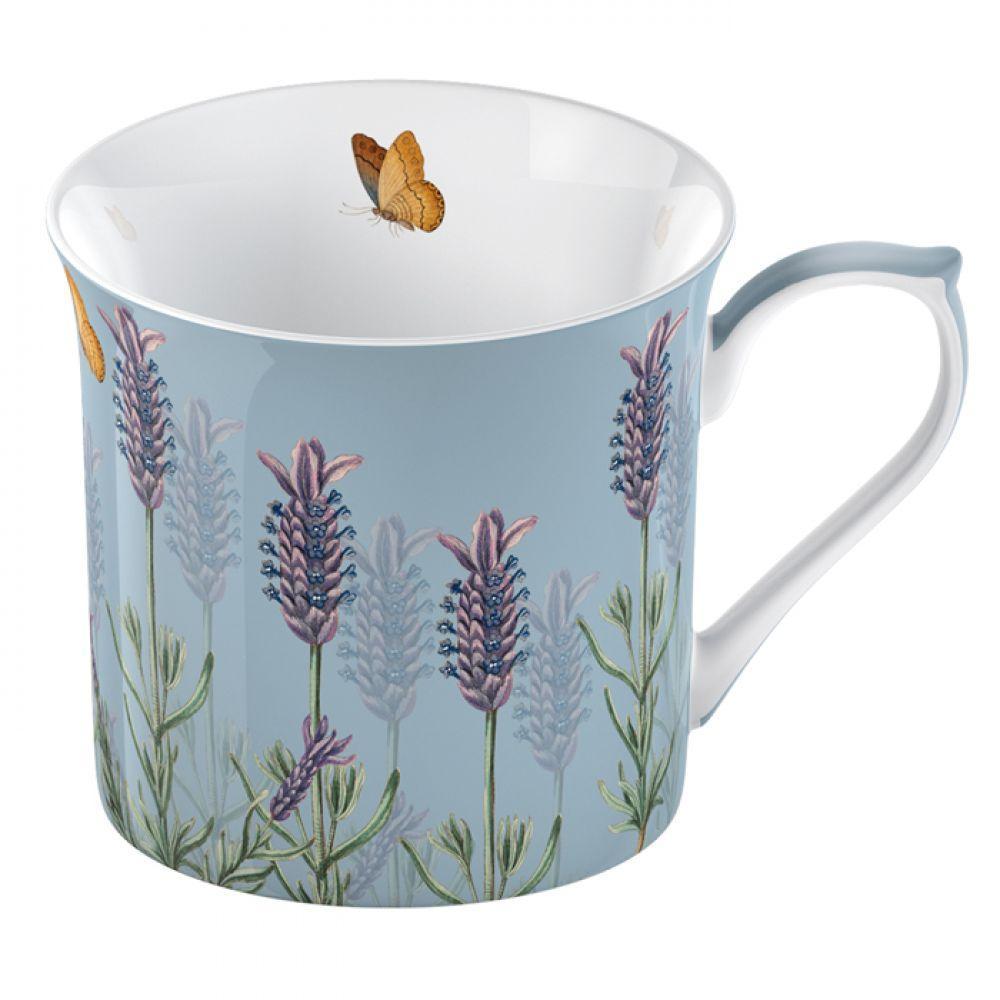 Кружка для чая LAVENDER, фарфор, белый, 230 мл