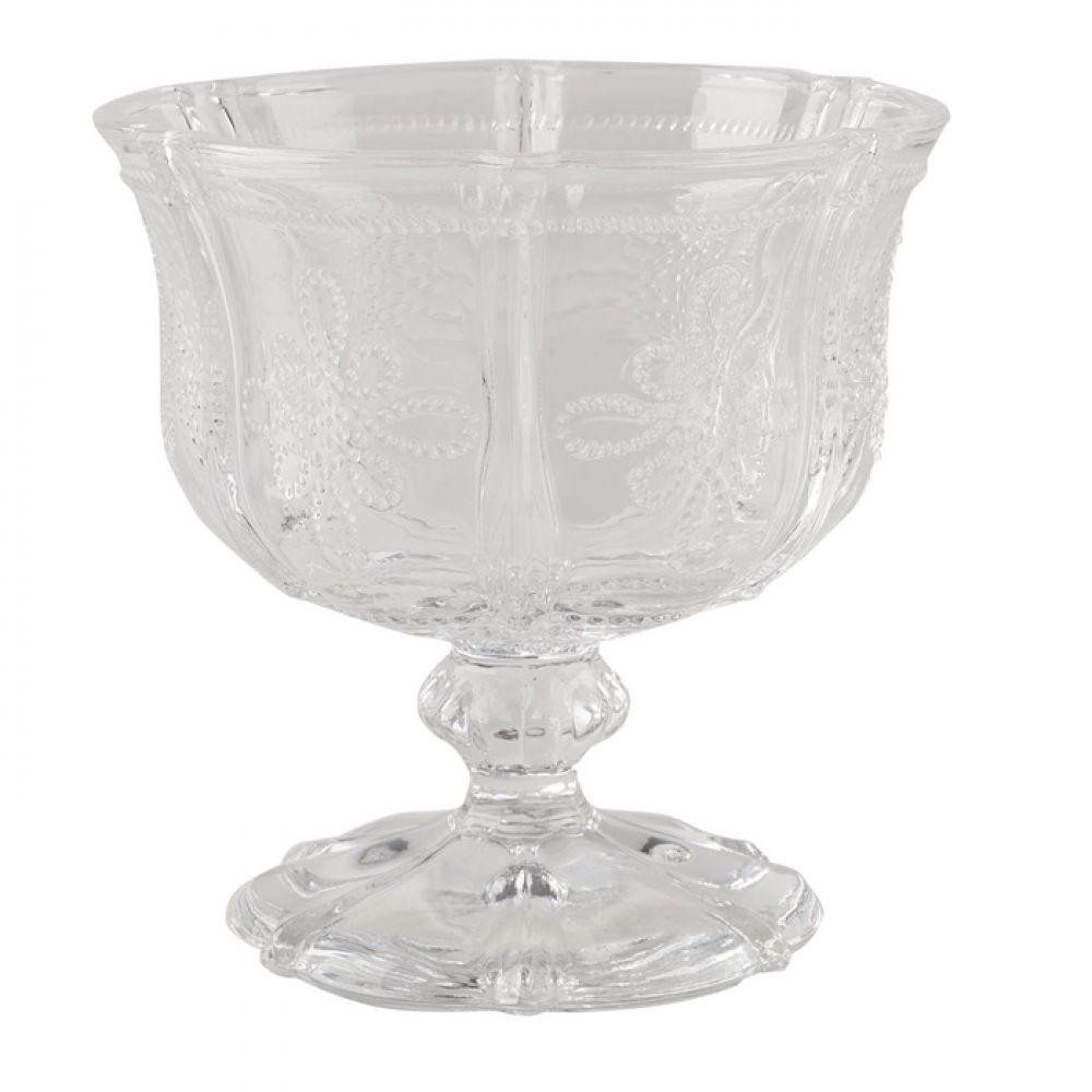 Креманка стеклянная Vintage Indigo, прозрачная