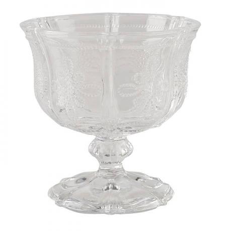 Креманка стеклянная Vintage Indigo, прозрачная, фото 2