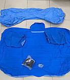 Надувной матрас в машину с насосом EasyWay (Синий) - универсальный автомобильный надувной матрас, фото 2