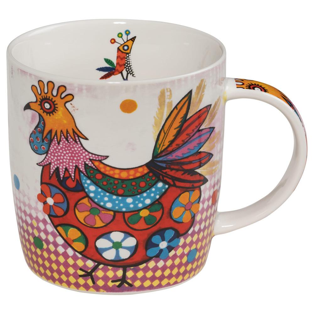 Кружка для чая Peggie SMILE фарфоровая, 12 х 8,5 х 9,5 см, 400 мл