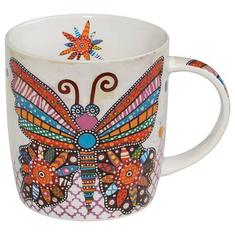 Кружка для чая Flatter SMILE фарфоровая, 12 х 8,5 х 9,5 см, 400 мл, фото 2