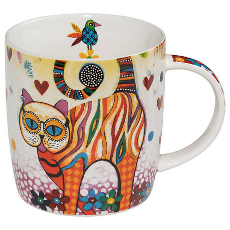 Кружка для чая Tabby SMILE фарфоровая, 12 х 8,5 х 9,5 см, 400 мл, фото 2
