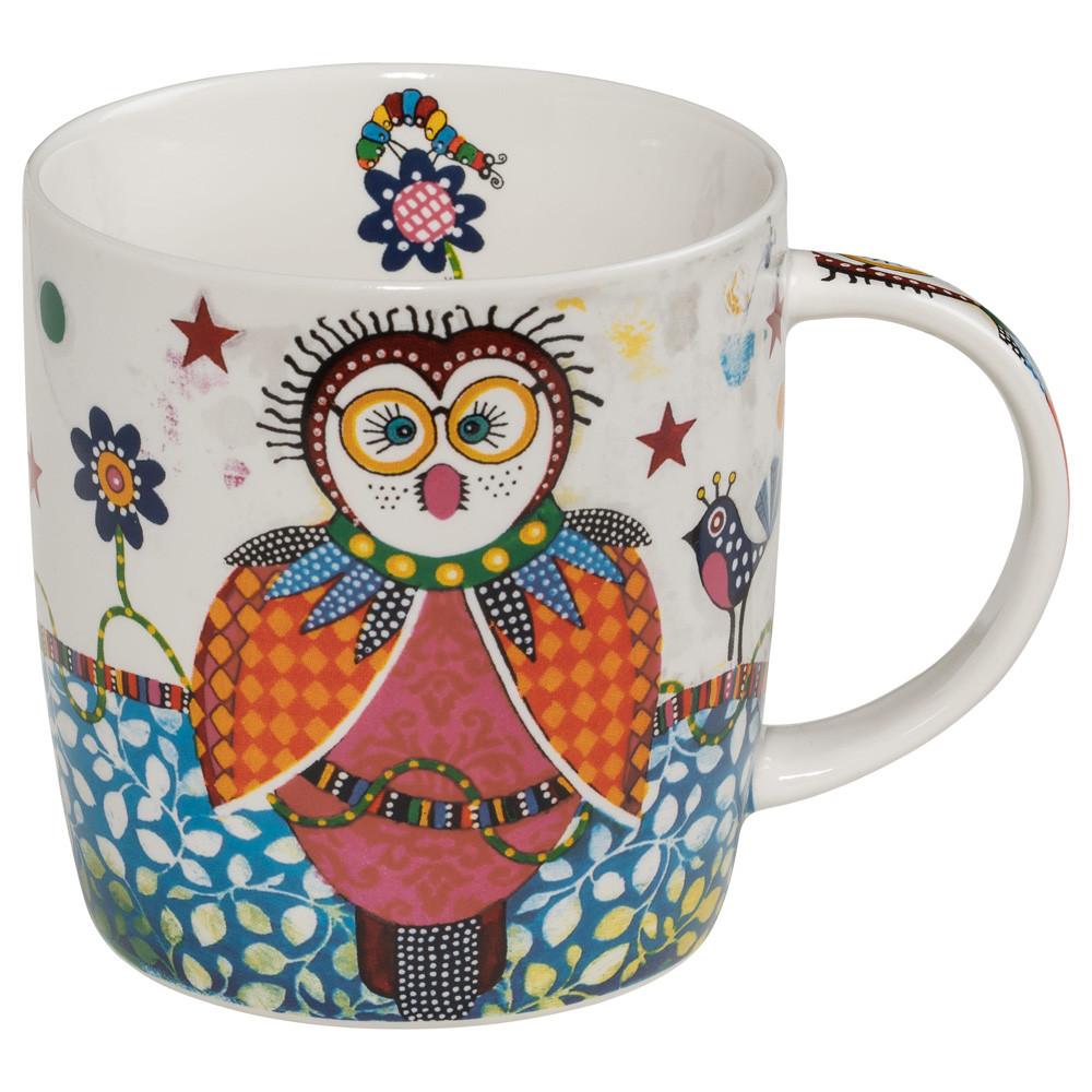 Кружка для чая Boobook SMILE фарфоровая, 12 х 8,5 х 9,5 см, 400 мл