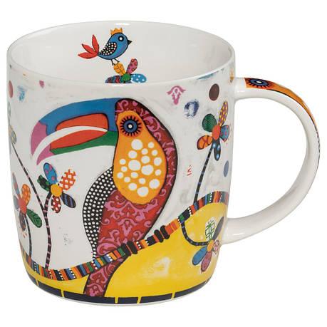 Кружка для чая Tango SMILE фарфоровая, 12 х 8,5 х 9,5 см, 400 мл, фото 2