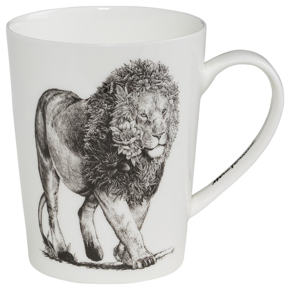 Кружка для чая Lion MARINI FERLAZZO фарфоровая, 12,5 х 9 х 11,5 см, 460 мл