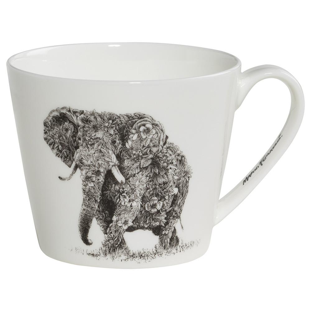 Кружка для чая Elephant MARINI FERLAZZO фарфоровая, 13 х 10,5 х 8,5 см, 450 мл