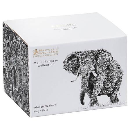 Кружка для чая Elephant MARINI FERLAZZO фарфоровая, 13 х 10,5 х 8,5 см, 450 мл, фото 2