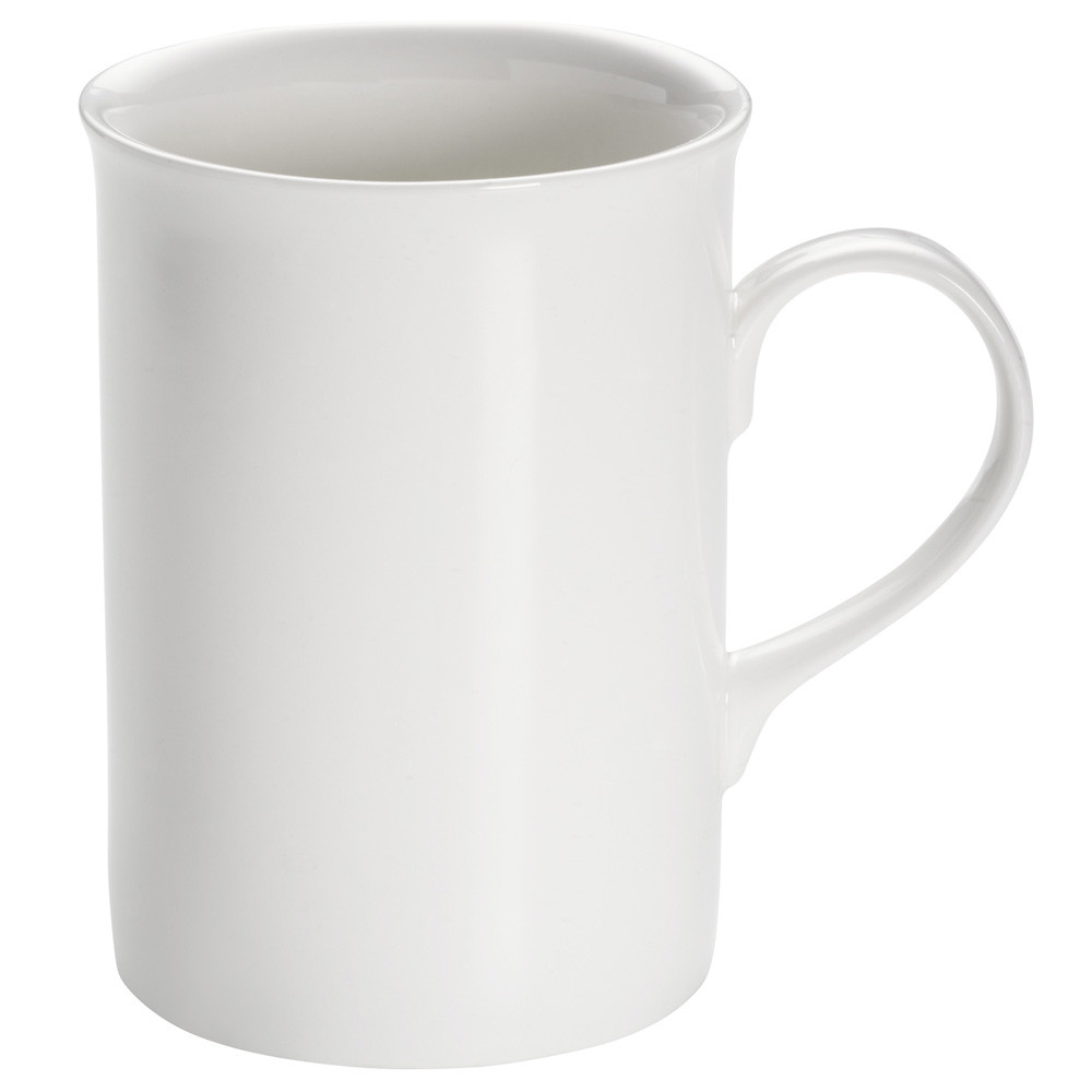 Кружка для чая WHITE BASICS ROUND фарфоровая, 290 мл