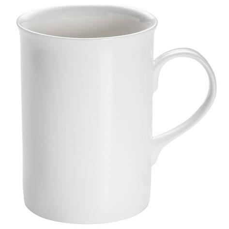Кружка для чая WHITE BASICS ROUND фарфоровая, 290 мл, фото 2