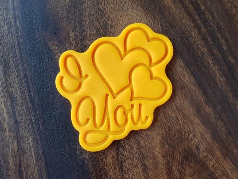 3Д Формочка ко Дню Влюбленных I Love You сердца | Вырубка на день святого Валентина | Вырубка для пряников