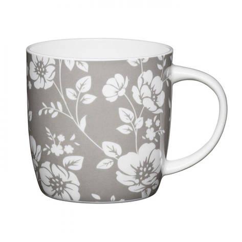 Кружка для чая Grey Floral Kitchen Craft, фарфор, 425 мл, фото 2