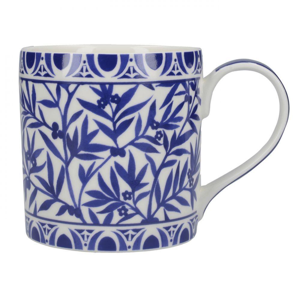 Кружка для чая Floral Geo White Cole Collection, фарфор, 450 мл