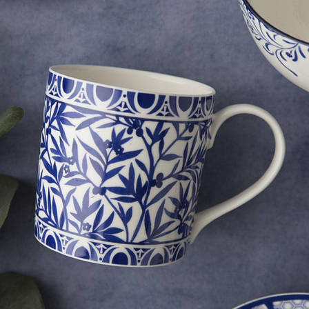 Кружка для чая Floral Geo White Cole Collection, фарфор, 450 мл, фото 2