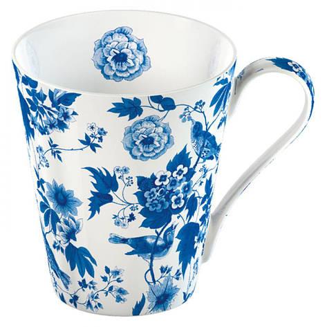 Кружка для чая Garden Birds, бело-голубой, фарфор, 400 мл, фото 2
