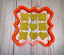 3Д Формочка ко Дню Влюбленных Крестики-Нолики X O | Вырубка на день святого Валентина | Вырубка для пряников