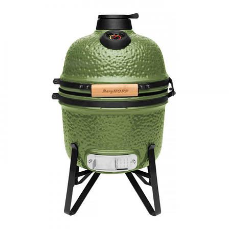 Маленький керамічний гриль-піч, зелений, фото 2