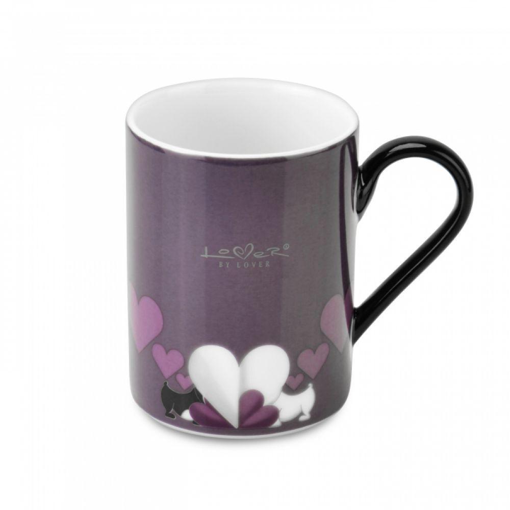 Кофейная кружка фиолетовая Lover by Lover, 300 мл, 2 шт.