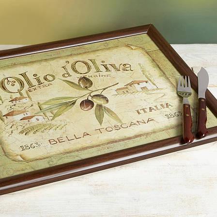 Поднос с подкладкой Olio d'Oliva, 44 x 34 см, фото 2