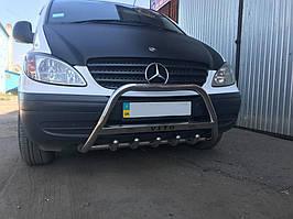 Mercedes Vito 639 2004-2010 Кенгурятник с надписью 60мм / Кенгурятники Мерседес Бенц Вито W639
