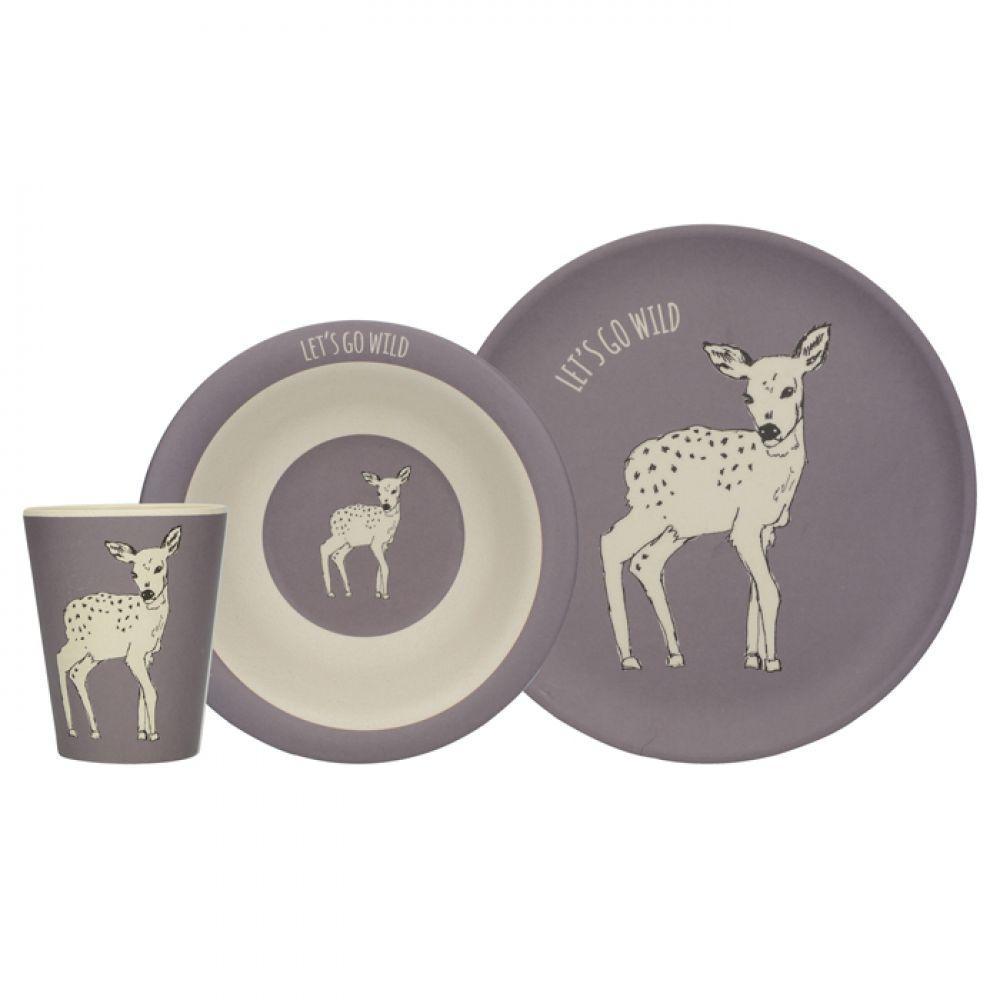 Набор детской посуды DEER INTO THE WILD 3 предм Creative Tops 5226220