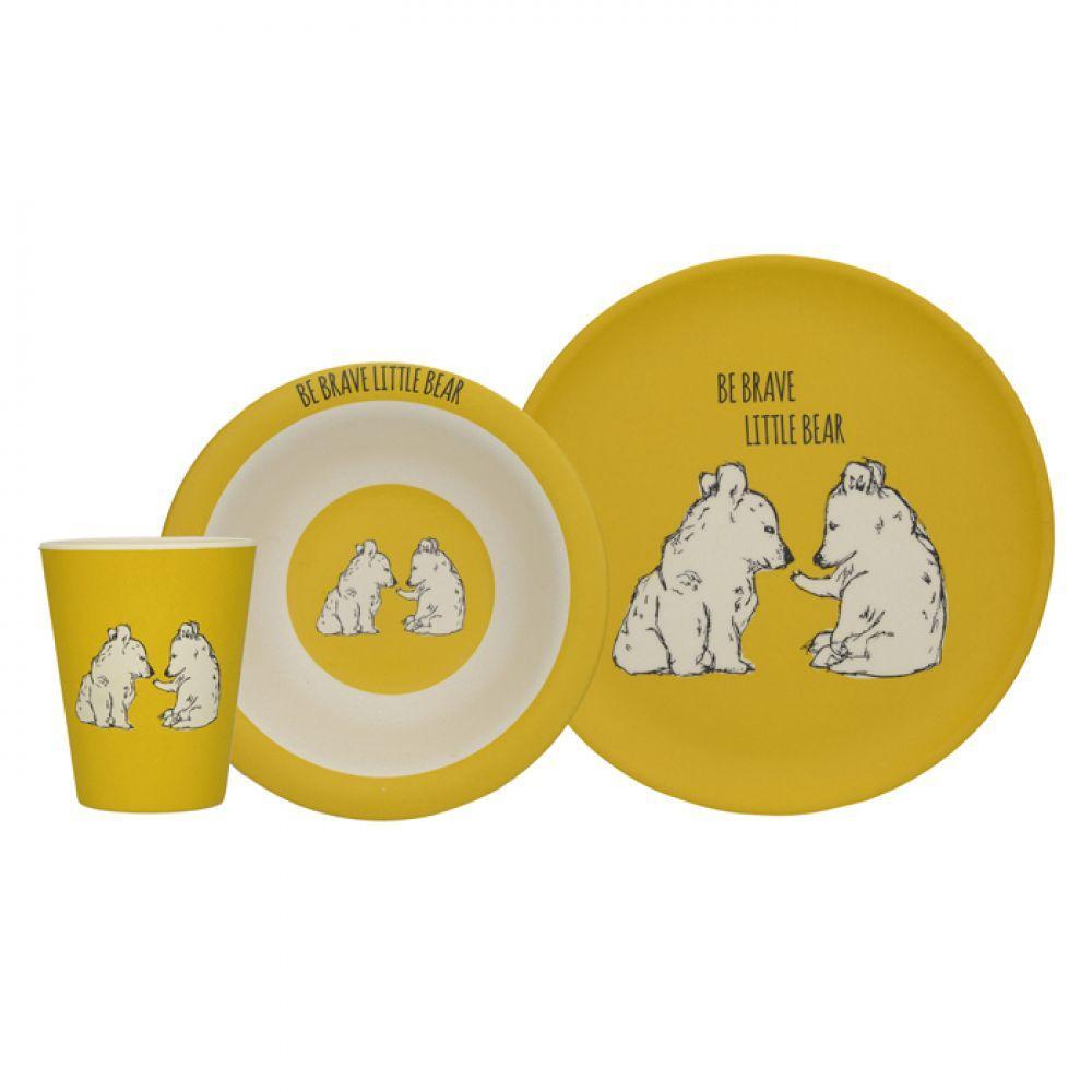 Набір дитячого посуду BEAR INTO THE WILD 3 предм Creative Tops 5226219