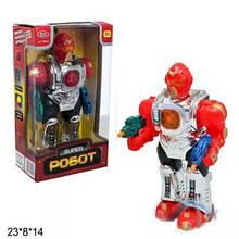 Дитячий робот іграшка музична на батарейках світло звук ходить