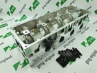 Головка блоку циліндрів (направляючі втулки клапанів, шпильки) Logan 1,4/1,6 Grog Корея, фото 1