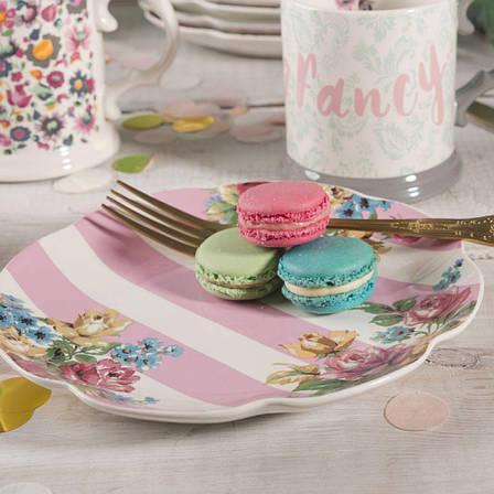 Тарелка десертная BLOOMING FANCY Stripe, керамика, диам. 20,5 см, фото 2