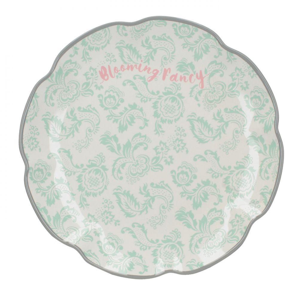 Тарелка десертная BLOOMING FANCY Slogan, керамика, диам. 20,5 см