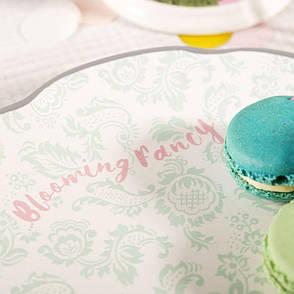 Тарелка десертная BLOOMING FANCY Slogan, керамика, диам. 20,5 см, фото 2