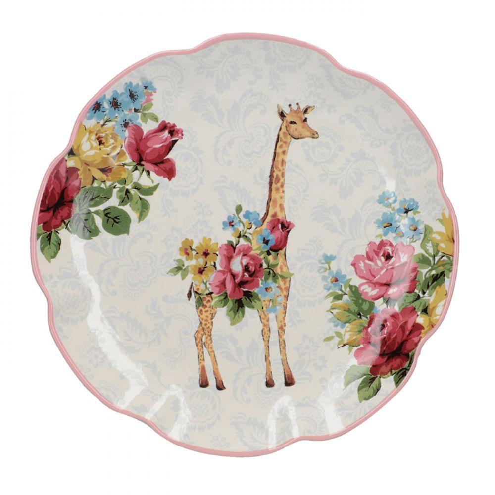 Тарелка десертная BLOOMING FANCY Giraffe, керамика, диам. 20,5 см